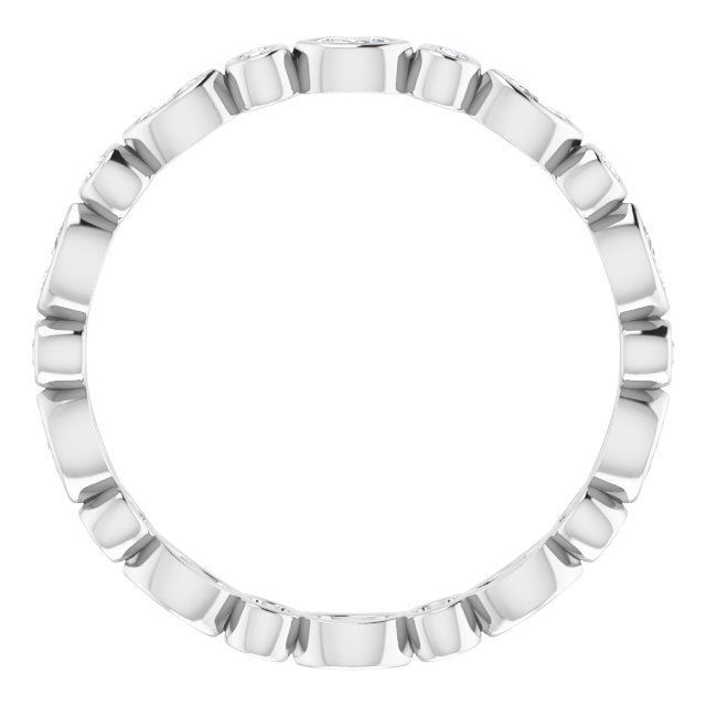 14K White 3/8 CTW Diamond Eternity Band Size 8