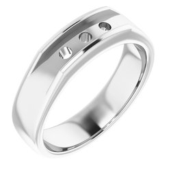 Three-Stone Men's Ring