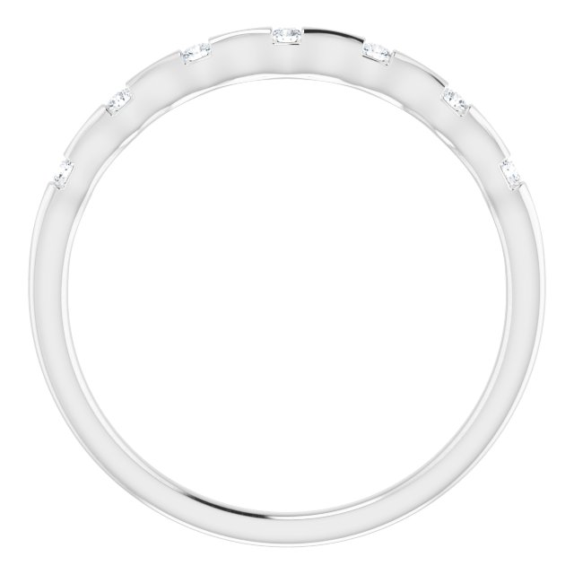 14K White .06 CTW Diamond Stackable Ring