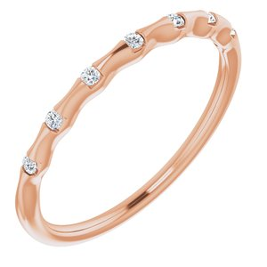 14K Rose .06 CTW Diamond Stackable Ring