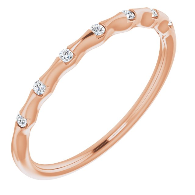 14K Rose .06 CTW Diamond Stackable Ring