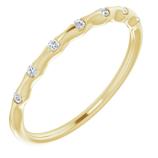 14K Yellow .06 CTW Diamond Stackable Ring