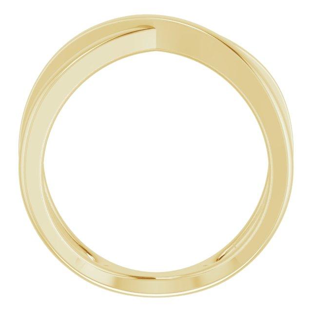 14K Yellow Criss-Cross Ring Size 7