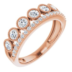 14K Rose 1 CTW Lab-Grown Diamond Ring