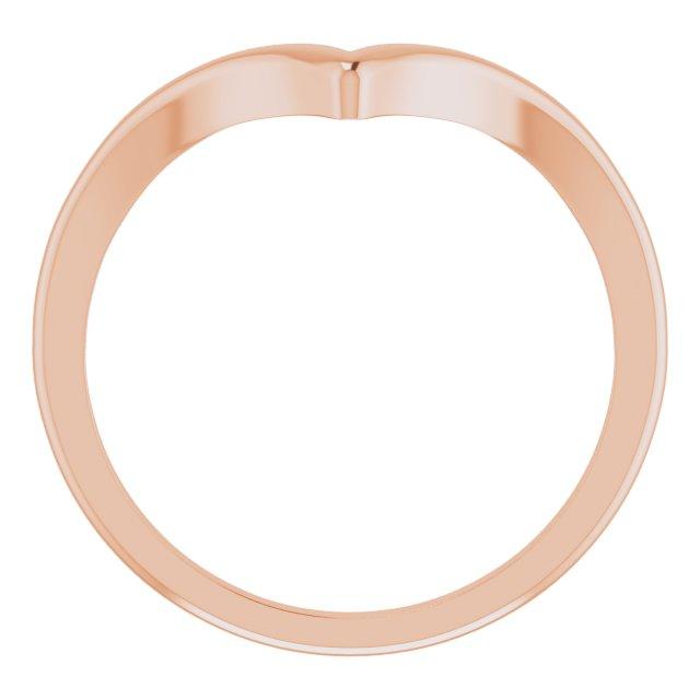 14K Rose V Ring