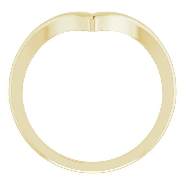 14K Yellow V Ring