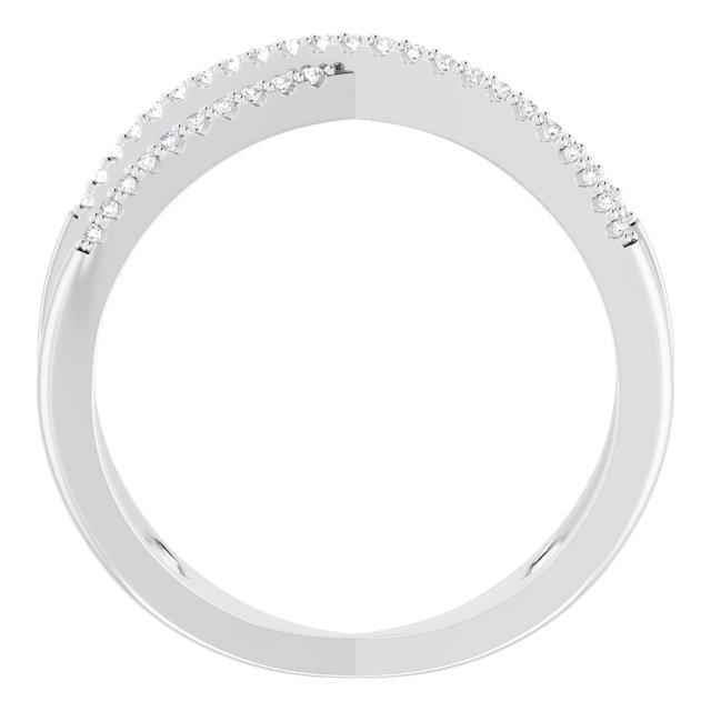 Platinum 1/6 CTW Diamond Criss-Cross Ring
