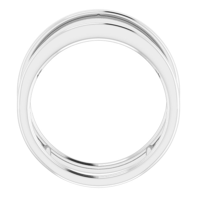 14K White Freeform Ring Size 7