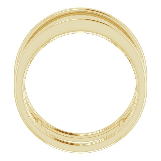 14K Yellow Freeform Ring Size 7