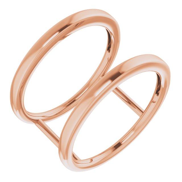 14K Rose Freeform Ring Size 7