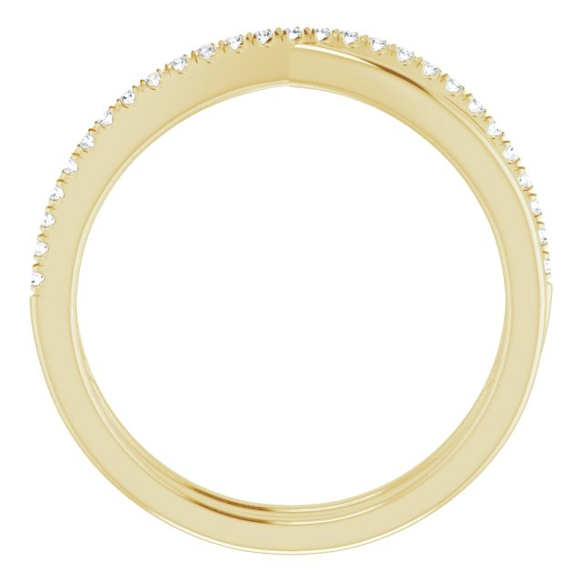 14K Yellow 1/10 CTW Natural Diamond Criss-Cross Ring