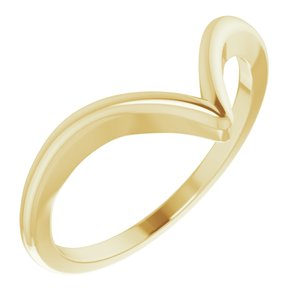 14K Yellow V Ring
