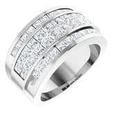 14K White 2 CTW Diamond Invisible Set Ring Size 5