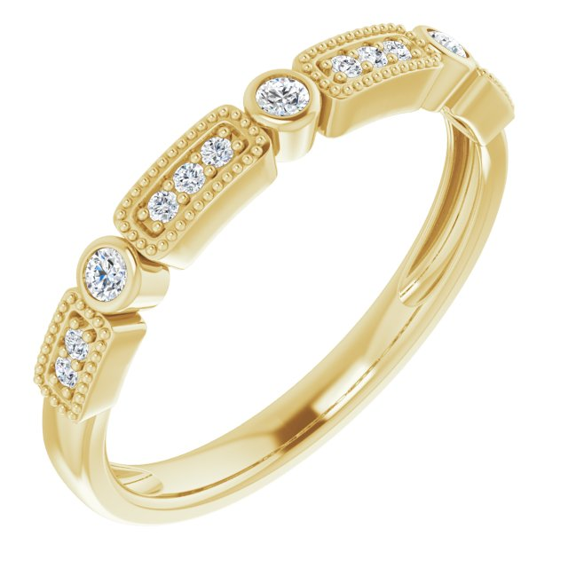 14K Yellow 1/10 CTW Diamond Stackable Ring