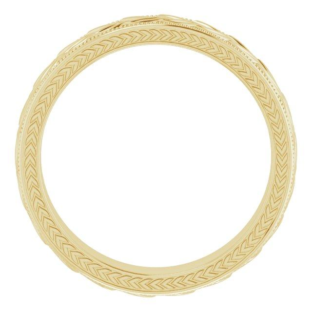 14K Yellow 5 mm Wheat Pattern Band Size 10
