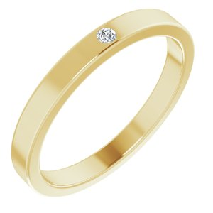14K Yellow .02 CTW Diamond Stackable Family Ring