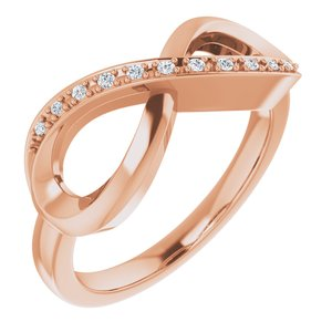 14K Rose .05 CTW Diamond Infinity-Inspired Ring