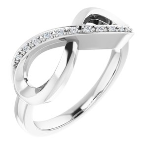 14K White .05 CTW Diamond Infinity-Inspired Ring