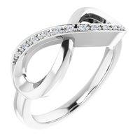 10K White .05 CTW Diamond Infinity-Inspired Ring