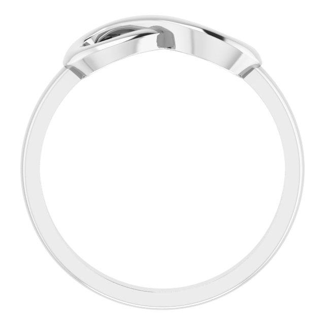 14K White Infinity-Inspired Ring