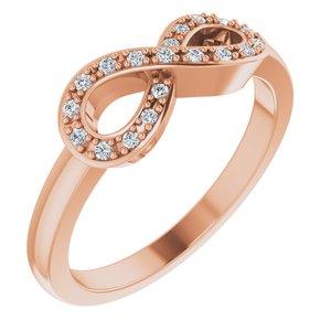 14K Rose 1/10 CTW Diamond Infinity-Inspired Ring