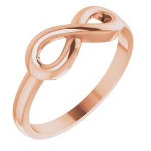 14K Rose Infinity-Inspired Ring