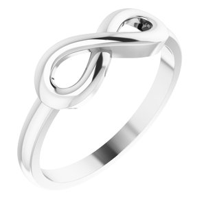 Sterling Silver Infinity-Inspired Ring