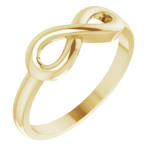 14K Yellow Infinity-Inspired Ring