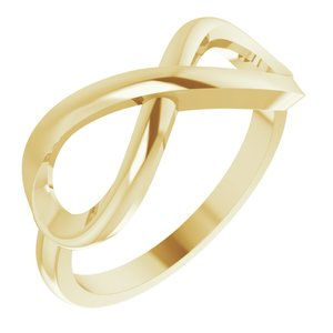 14K Yellow Infinity-Inspired Ring Size 7