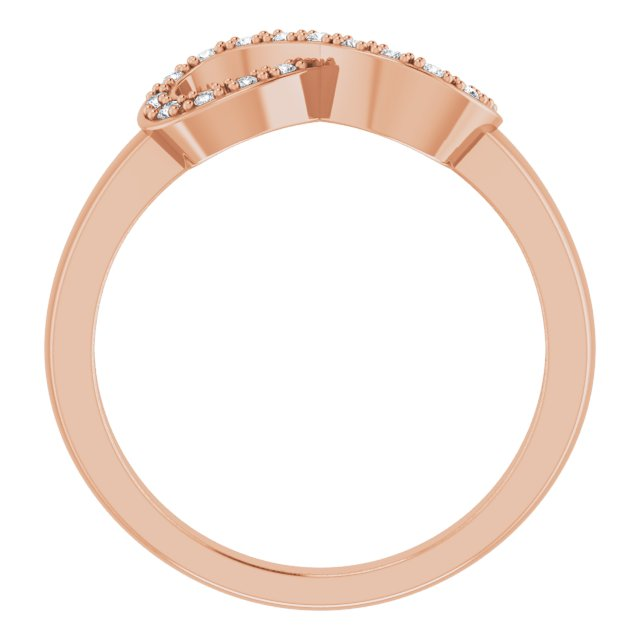 14K Rose 1/10 CTW Natural Diamond Infinity-Inspired Ring
