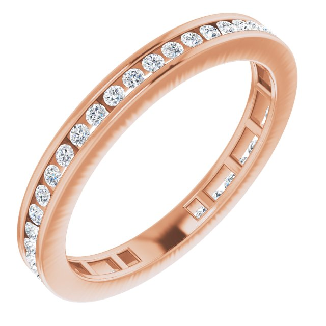 14K Rose 3/8 CTW Diamond Stackable Ring