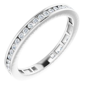 14K White 3/8 CTW Diamond Stackable Ring