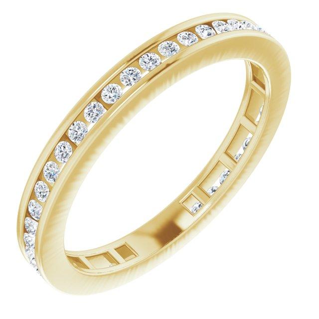 14K Yellow 3/8 CTW Diamond Stackable Ring