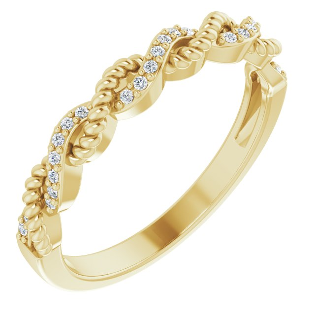14K Yellow .08 CTW Natural Diamond Stackable Ring