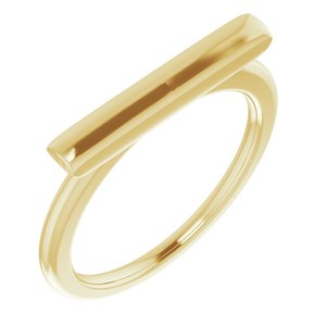 14K Yellow Bar Ring