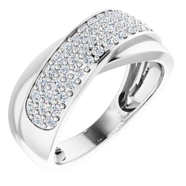 14K White 5/8 CTW Diamond Ring Size 7