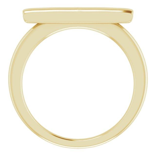 14K Yellow Bar Ring