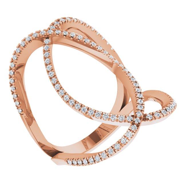 14K Rose 3/8 CTW Natural Diamond Ring