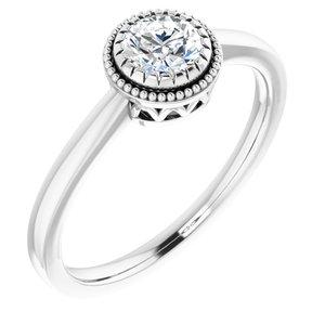 "14K White Sapphire ""April"" Birthstone Ring"