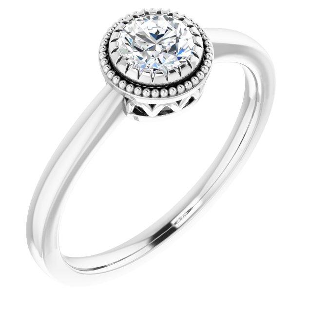 14K White Sapphire