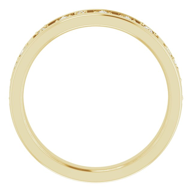14K Yellow 1/5 CTW Diamond Stackable Ring
