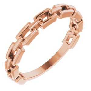 14K Rose Chain Link Ring