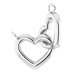 "Sterling Silver Interlocking Heart 16"" Necklace"