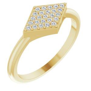 14K Yellow 1/8 CTW Diamond Geometric Ring