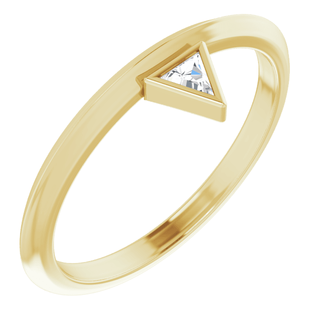 bezel-set stackable ring