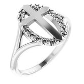 Halo-Style Cross Ring