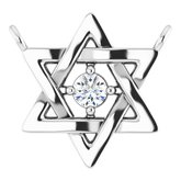 Petite Star of David Necklace or Center