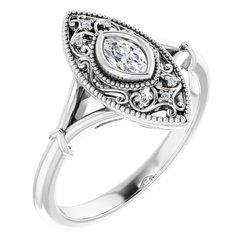 Vintage-Inspired Bezel-Set Ring