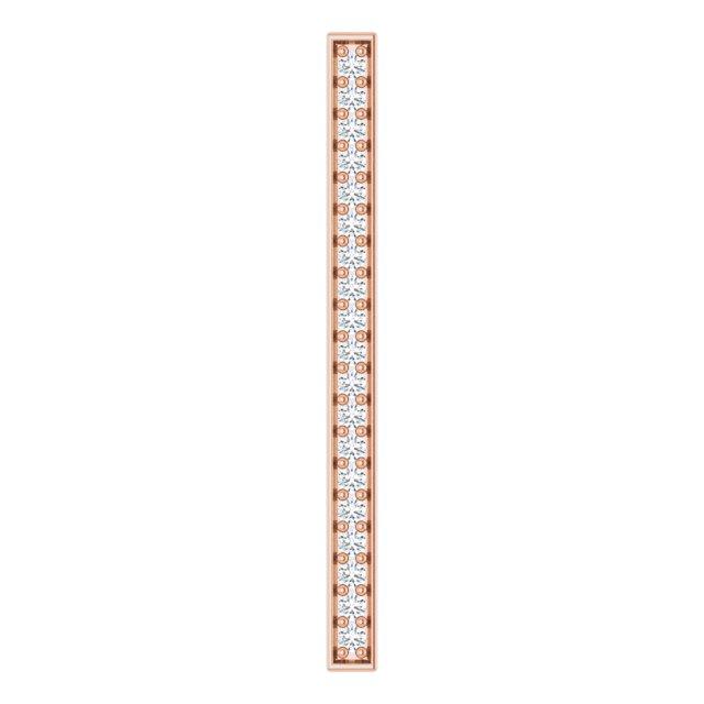 14K Rose 1/5 CTW Natural Diamond Vertical Bar Pendant