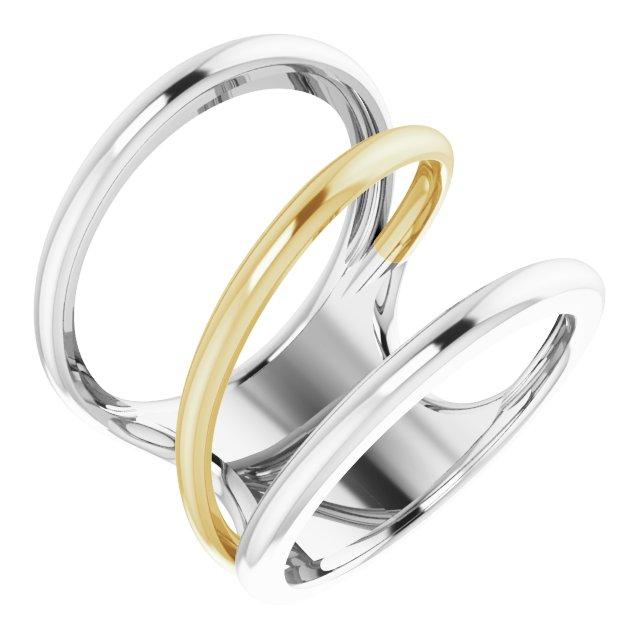 14K White & Yellow Freeform Ring